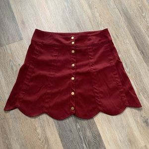 Love Riche Button Skirt